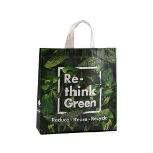 Resirkulert gjenbruksnett med logo | Handlenett | SKG - Spesialister innen profilert emballasje