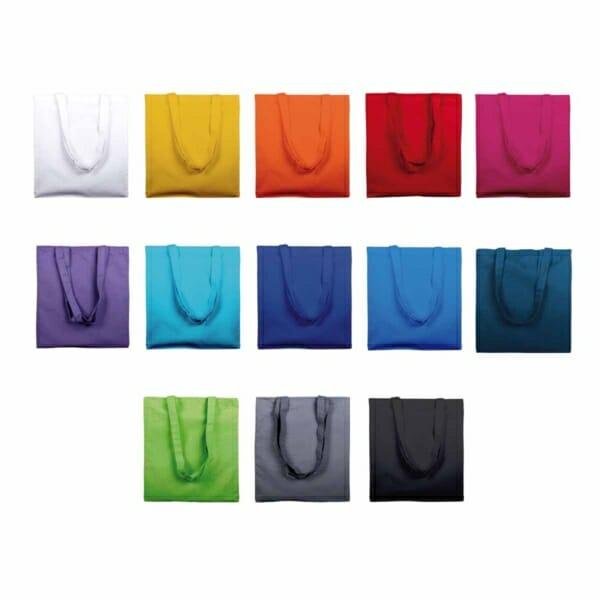 Fargekart for bomullsnett med trykk | Handlenett | SKG - Spesialister innen profilert emballasje