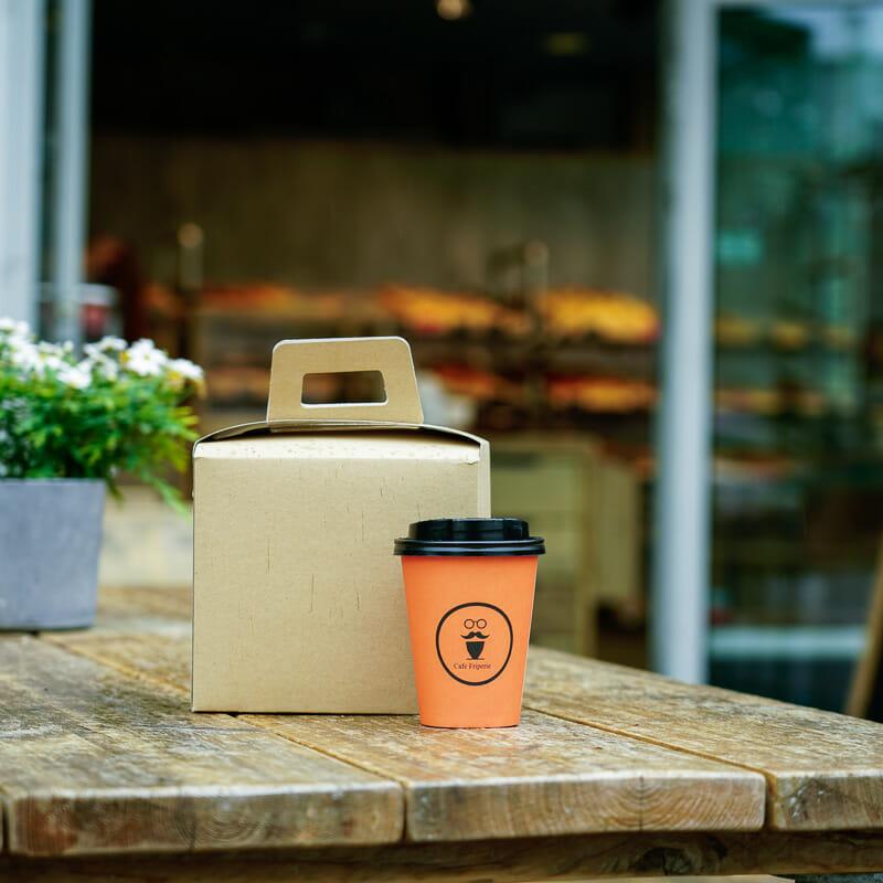 Lunsjeske med trykk | Take Away | SKG - Spesialister innen profilert emballasje