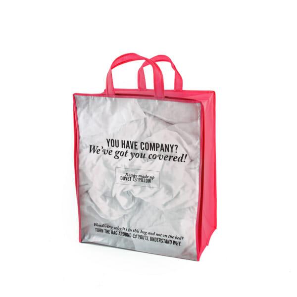 Eksklusivt handlenett med logo, HOtellpute med vindu og glidelås | Handlenett | SKG - Spesialister innen profilert emballasje