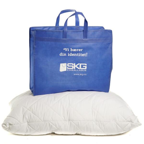 Eksklusivt handlenett til hotellputer med trykk og glidelås | Handlenett | SKG - Spesialister innen profilert emballasje