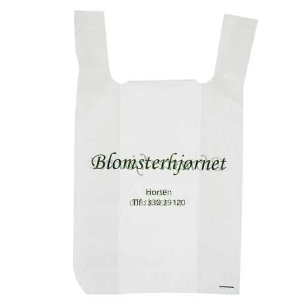 Plantepose med logo | Plastposer | SKG - Spesialister innen profilert emballasje