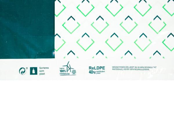 Postposer med trykk i resirkulert plast | Fraktemballasje | SKG - Spesialister innen profilert emballasje