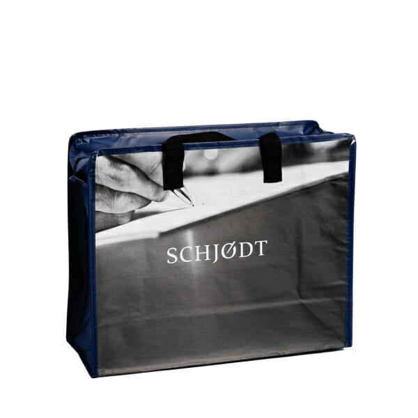 Laminert dokumentpose med trykk og glidelås til arkiv og lager | Handlenett | SKG - Spesialister innen profilert emballasje