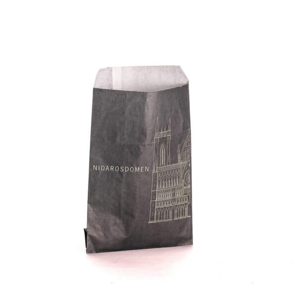 Småpose i papir med trykk til postkort | Take Away | SKG - Spesialister innen profilert emballasje