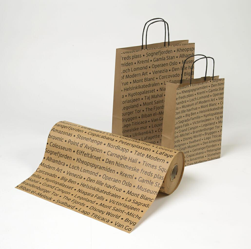 Innpakningspapir med trykk   Gavepapir   SKG - Spesialister innen profilert emballasje