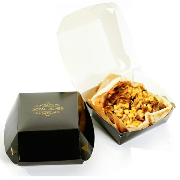 Kebabboks til pita med logo | Take Away | SKG - Spesialister innen pr ofilert emballasje