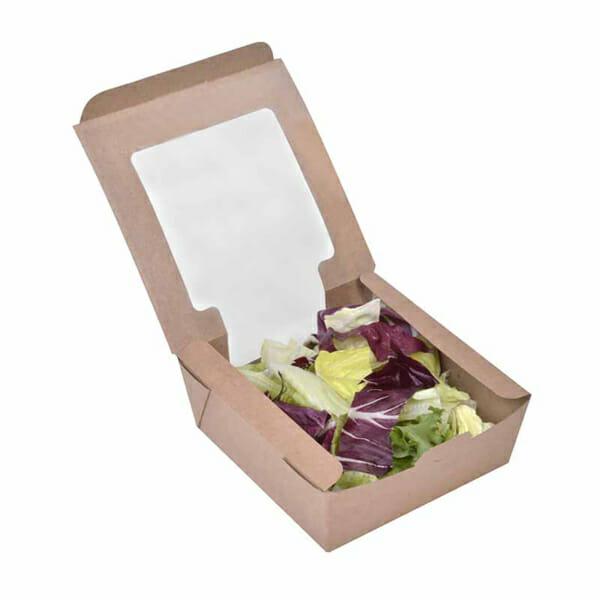 Salateske med trykk og vindu | Take away | SKG - Spesialister innen propfilert emballasje