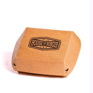 Burgermiddag eske med trykk | SKG - Spesialister innen profilert emballajse