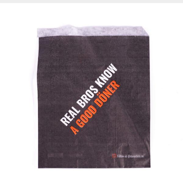 Papirlommer til kebab i pita med trykk   Take Away   SKG - Spesialister innen profilert emballasje   Take