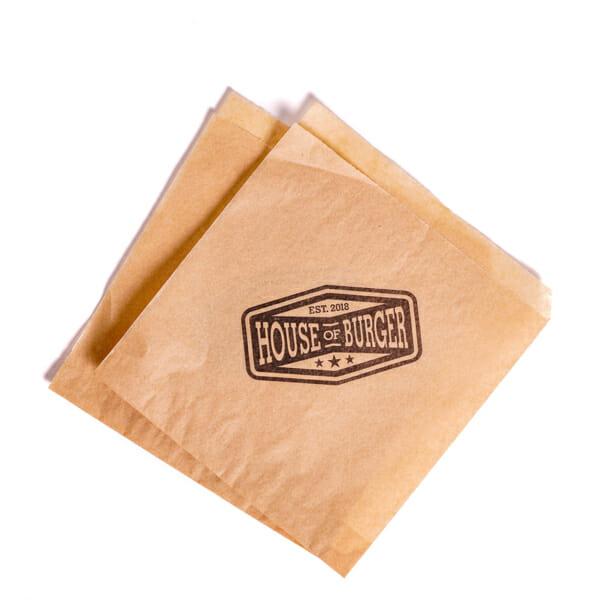 Hamburgerlommer i papir med trykk   Take Away   SKG - Spesialister innen profilert emballasje   Take