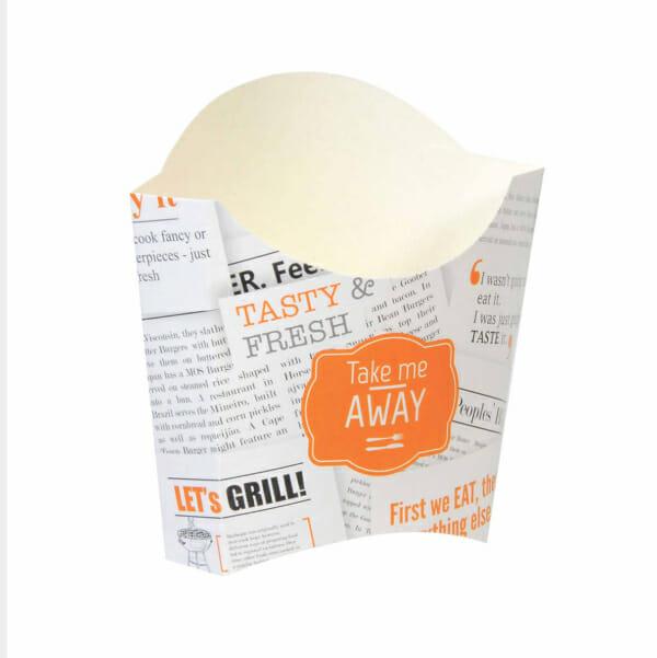 Pommes frites beger med trykk | Take Away | SKG - spesialister innen profilert emballasje