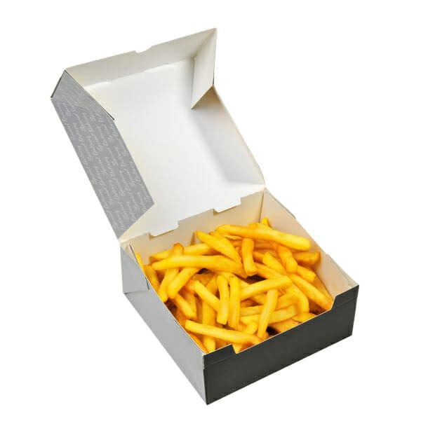 Pommes frites eske med trykk | Take Away | SKG - spesialister innen profilert emballasje