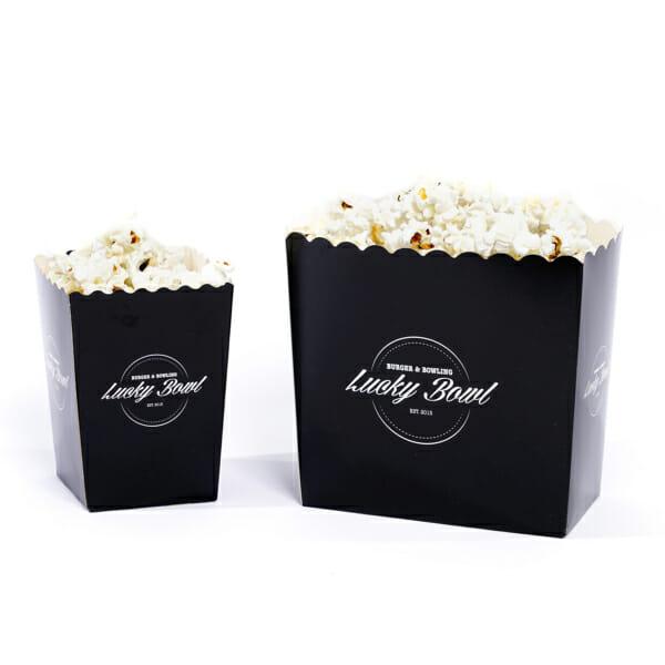 Popcornbeger med logo | Logokopp | SKG - Spesialister innen profilert emballasje