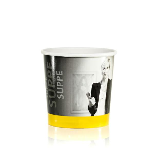 Suppekbeger med lokk og trykk | Take Away | SKG - Spesialister innen profilert emballasje
