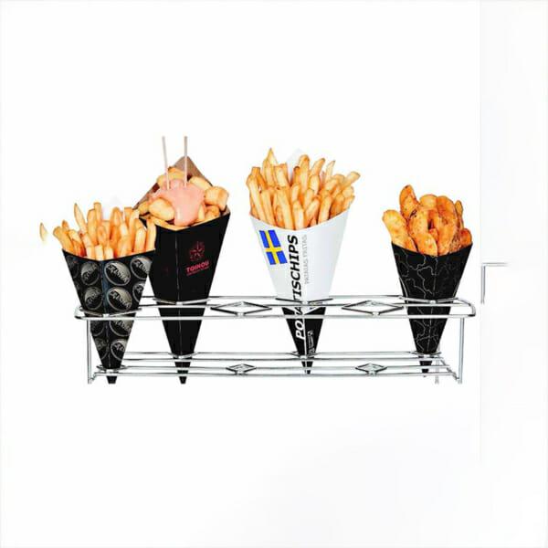 Pommes frites kremmerhus i kartong med trykk | Take Away | SKG - spesialister innen profilert emballasje