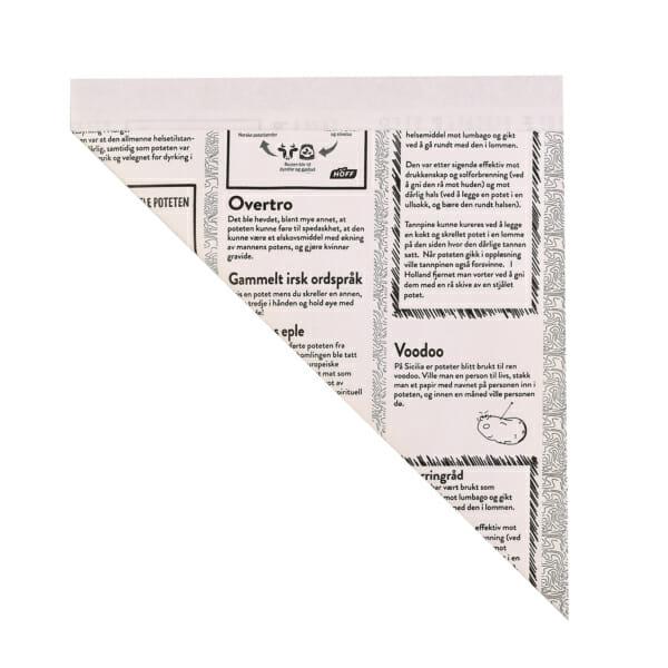 Kremmerhus i papir med logo | Take Away | SKG - Spesialister innen profilert emballasje