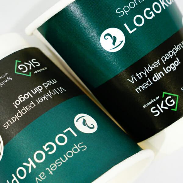 Pappkrus med logo | Take Away | Logokopp | SKG - Spesialister innen profilert emballasje