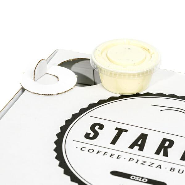 Pizzaeske med trykk | Take Away | SKG - Spesialister innen profilert emballasje