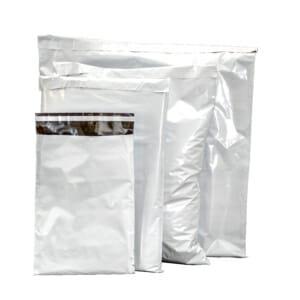 Fraktposer med teip i 4 størrelser hvit | Lagervare uten logo | SKG - Spesialister innen profilert emballasje