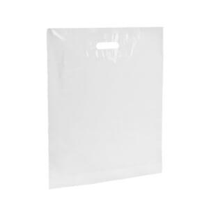 Plastposer hvit 45x50 cm | Uten trykk | SKG - Spesialister innen profilert emballasje