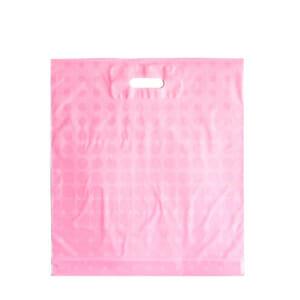 Plastposer rosa med sirkler 45x50 cm | Uten trykk | SKG - Spesialister innen profilert emballasje