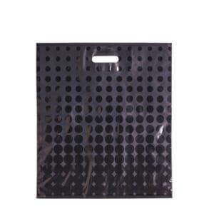 Plastposer sort med sirkler 45x50 cm | Uten trykk | SKG - Spesialister innen profilert emballasje