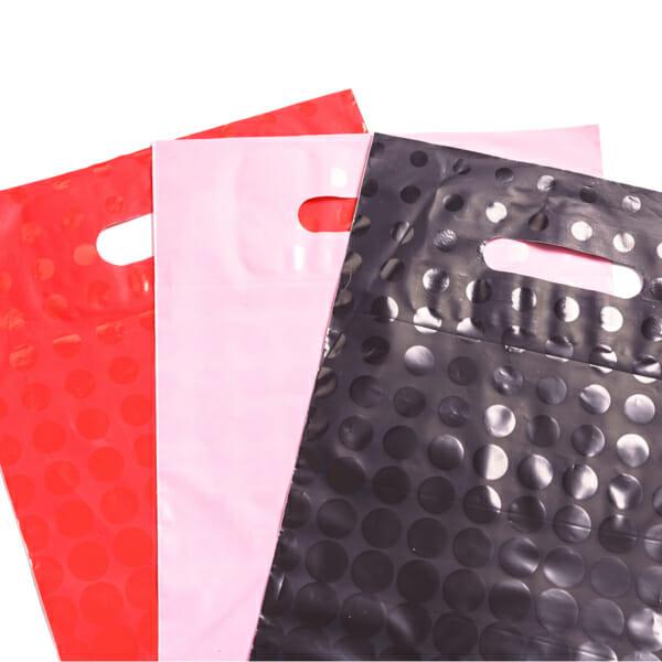 Plastposer med sirkler - 3 farger - 2 størrelser | Uten trykk | SKG - Spsialister innen profilert emballasje