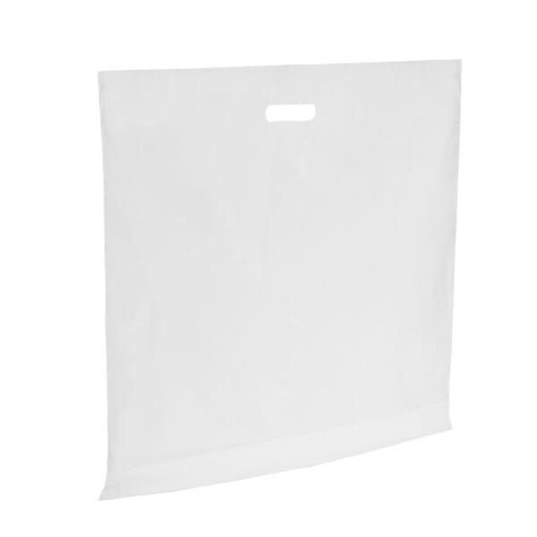 Plastposer hvit 60x50 cm | Uten trykk | SKG - Spesialister innen profilert emballasje