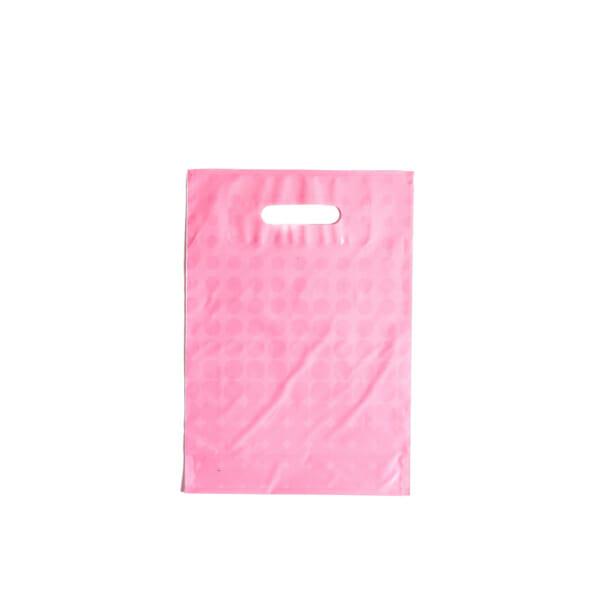 Plastposer rosa med sirkler 25x35 cm | Uten trykk | SKG - Spesialister innen profilert emballasje