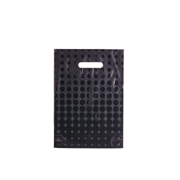 Plastposer sort med sirkler 25x35 cm | Uten trykk | SKG - Spesialister innen profilert emballasje