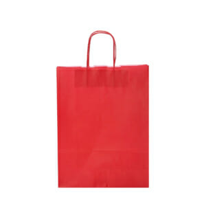 Papirposer rød 26x11x34cm | Lagervarer uten logo | SKG - Spesialister innen profilert emballasje