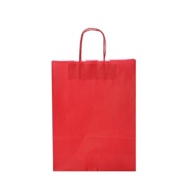 Papirposer rød 26x11x34cm   Lagervarer uten logo   SKG - Spesialister innen profilert emballasje