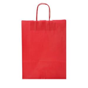 Papirposer rød 32x13x42 cm | Lagervarer uten logo | SKG - Spesialister innen profilert emballasje