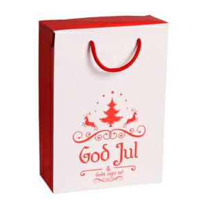 Gaveeske God jul med reinsdyr   nettbutikk fra lager   SKG - Spesialister innen profilert emballasje