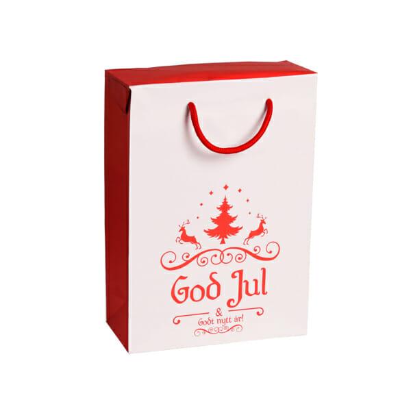Gaveeske God jul med reinsdyr | nettbutikk fra lager | SKG - Spesialister innen profilert emballasje