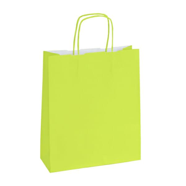 Papirposer lime grønn 32x13x42 cm | Lagervarer uten logo | SKG - Spesialister innen profilert emballasje