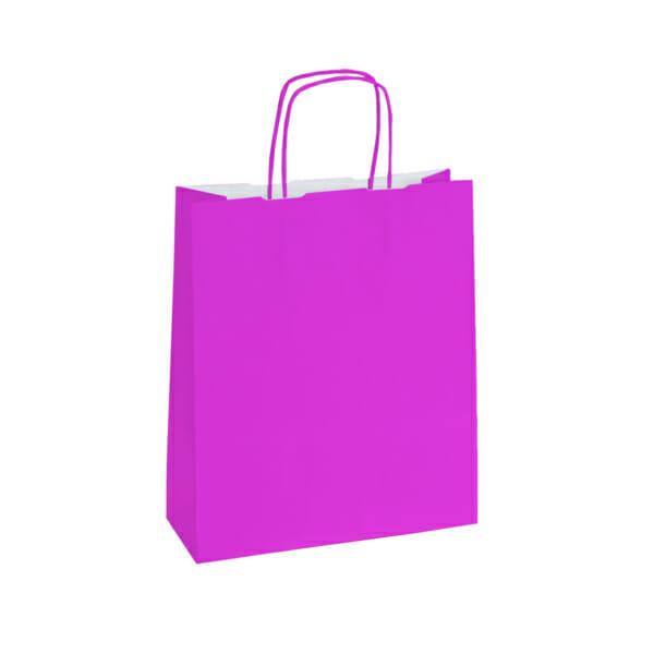 Papirposer pink rosa 26x11x34cm | Lagervarer uten logo | SKG - Spesialister innen profilert emballasje