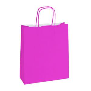 Papirposer pink rosa 32x13x42 cm | Lagervarer uten logo | SKG - Spesialister innen profilert emballasje