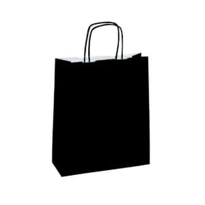 Papirposer sort 26x11x34cm | Lagervarer uten logo | SKG - Spesialister innen profilert emballasje
