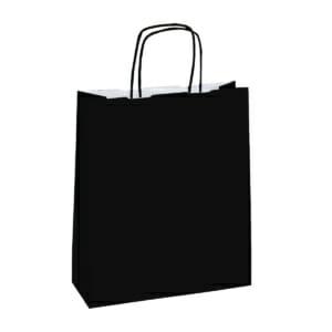 Papirposer sort 32x13x42 cm | Lagervarer uten logo | SKG - Spesialister innen profilert emballasje