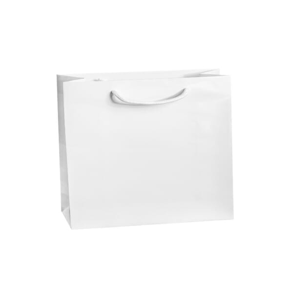 Eksklusiv papirpose hvit blank uten logo | Nettbutikk | Kort levering på 2-3 dager fra lager