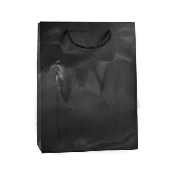 Eksklusiv papirpose sort blank uten logo   Nettbutikk   Kort levering på 2-3 dager fra lager