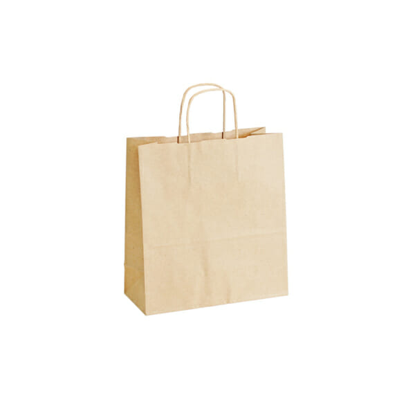 Papirposer uten logo i brunt kraftpapir   Nettbutikk   Kort levering på 2-3 dager fra lager   SKG - Spesialister innen profilert emballasje