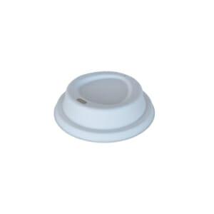 Kaffelokk med drikkehull i bagasse 80 mm | Nettbutikk fra lager | SKG - Spesialister innen profilert emballasje