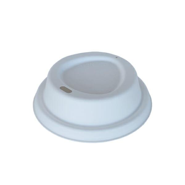 Kaffelokk med drikkehull i bagasse 90 mm   Nettbutikk fra lager   SKG - Spesialister innen profilert emballasje