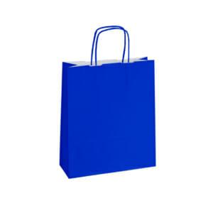 Blå papirposer uten logo i kraftpapir | Nettbutikk | Kort levering på 2-3 dager fra lager | SKG - Spesialister innen profilert emballasje