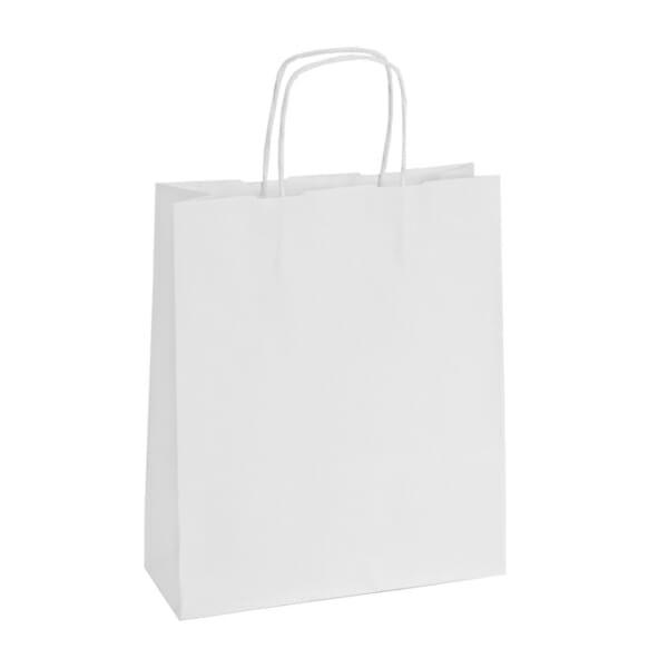 Papirpose uten logo i hvit kraft | Nettbutikk | Kort levering på 2-3 dager fra lager | SKG - Spesialister innen profilert emballasje