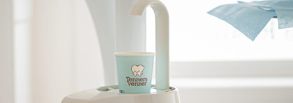 Pappkrus med logo   Tannlege Tenenrs venner   Drammen