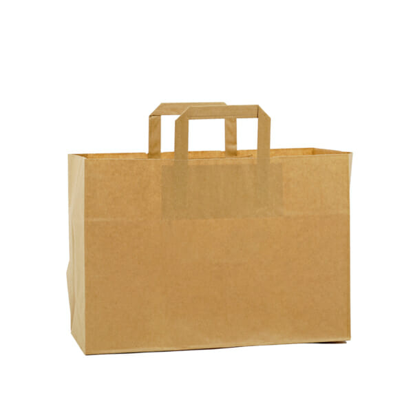 Brun Take Away pose i papir uten logo | Nettbutikk fra lager | SKG - Spesialister innen profilert emballasje